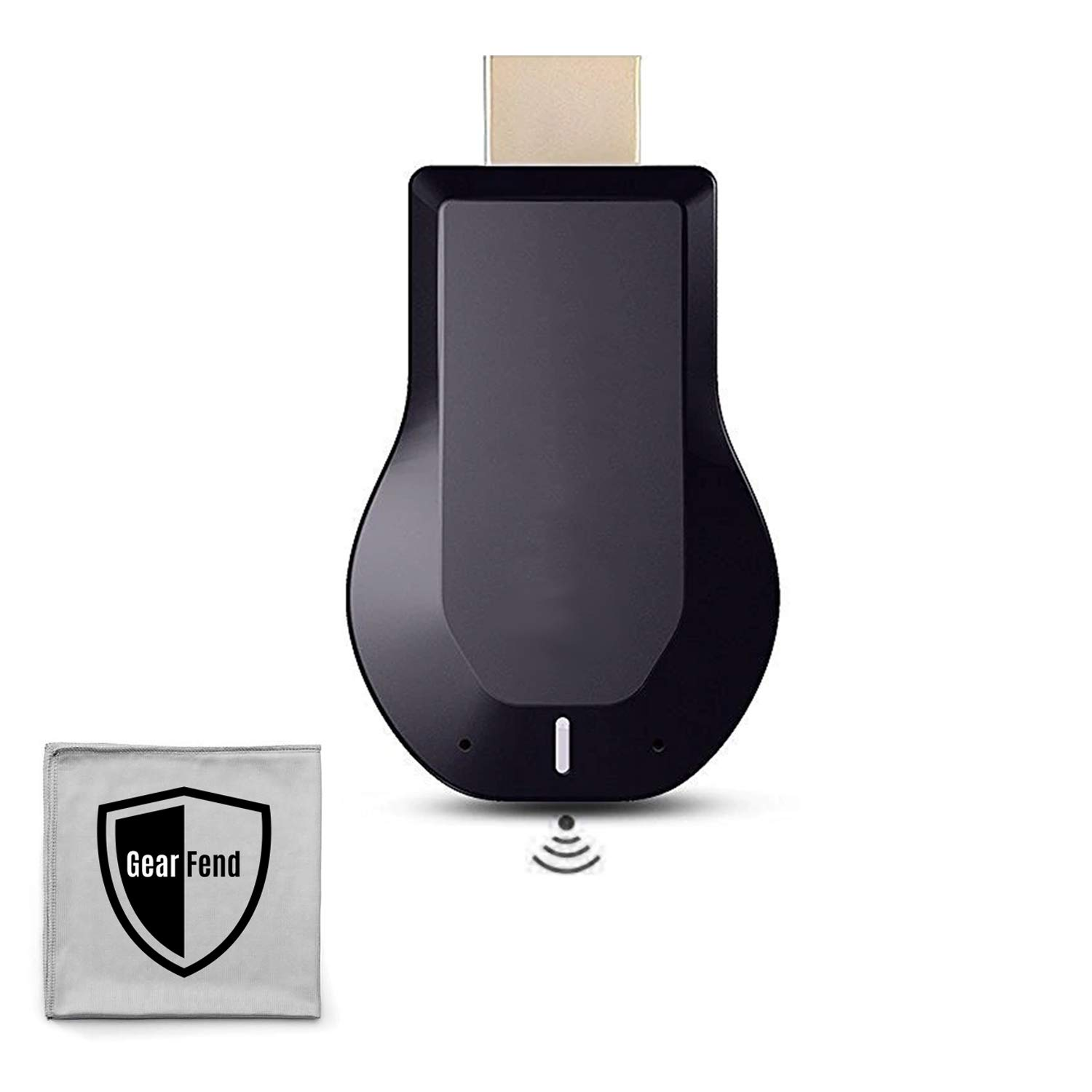 GearFend Wireless WiFi HDMI Display TV Dongle  1080P Wireless Screen  Mirroring and Streaming from Smartphone or Tablet Devices to TV  Plus  Microfiber