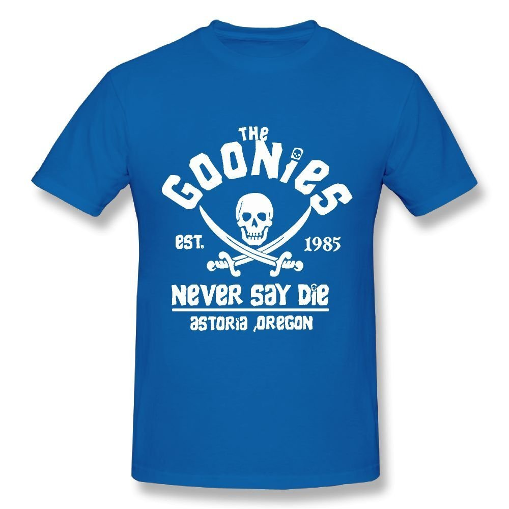 Connor The Goonies Never Say Die Chunk Sloth Fashion Travel Black Tee Short Sleeve Shirts