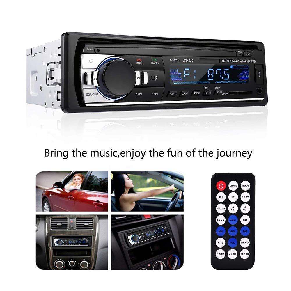 TaiTian Car Stereo Receiver Bluetooth Universal Single Din Car Radio Remote Control Dansrueus Car Stereos Audio in Dash FM Radio Receiver MP3 Player//USB//SD Card//AUX Taitian Direct