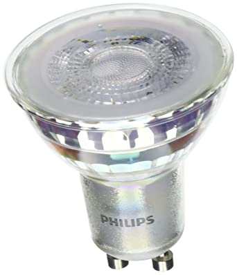 Philips - Pack de 6 Bombillas LED Foco Gu10 Cristal, 4.6 W Equivalente a 50