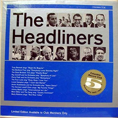 VARIOUS CBS the headliners 1955-1960 LP Mint- GB 7 Vinyl 1960 Record ()