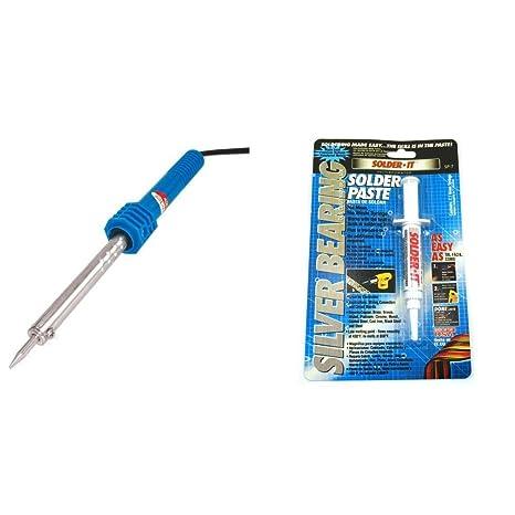 Soldering Iron 110V 30 Watt with Heat Shield & Silver Bearing Solder Paste - - Amazon.com