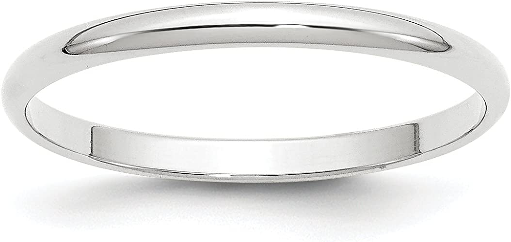 Top 10 Jewelry Gift 14KW 3mm LTW Flat Band Size 4.5