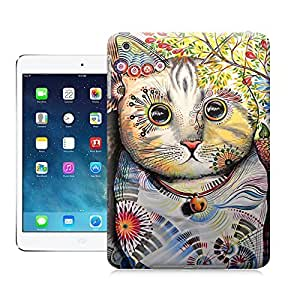 Unique Phone Case Cat Art Painting Hard Cover for ipad mini cases-buythecase