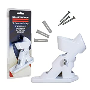 Valley Forge, American Flag, Aluminum Bracket White Powder Coated, 2-Position Pole Holder