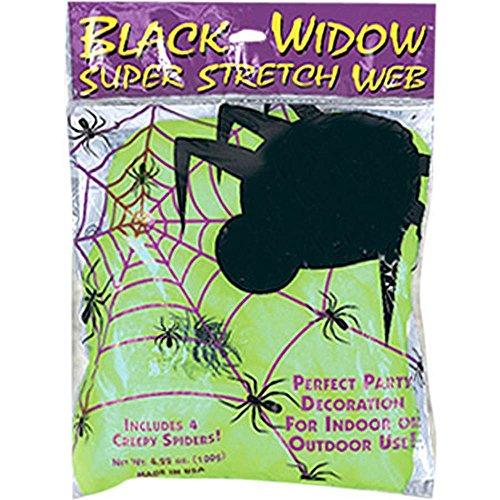 Green Halloween Glow-In-The-Dark Spider (Green Halloween Spider Web)