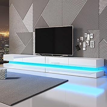 Aviator Double Le Meuble Tv Suspendu 280 Cm Blanc Mat Blanc