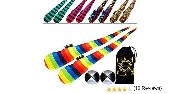 Funky Sock Poi Set (5 diseños) Pro Poi Spinning Socks AKA Tube Poi ...