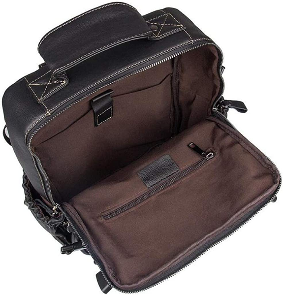 Soft Leather Fashion Backpack Commuter Bag Men and Women Flip Cover Shoulder Bag Small Bag