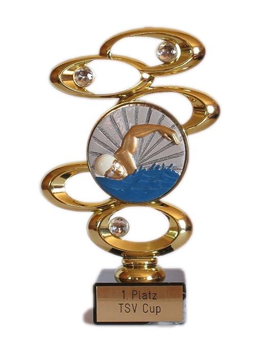 Flotador de copa Copa (único o Serie 3) con grabado y 3 nadar de ...