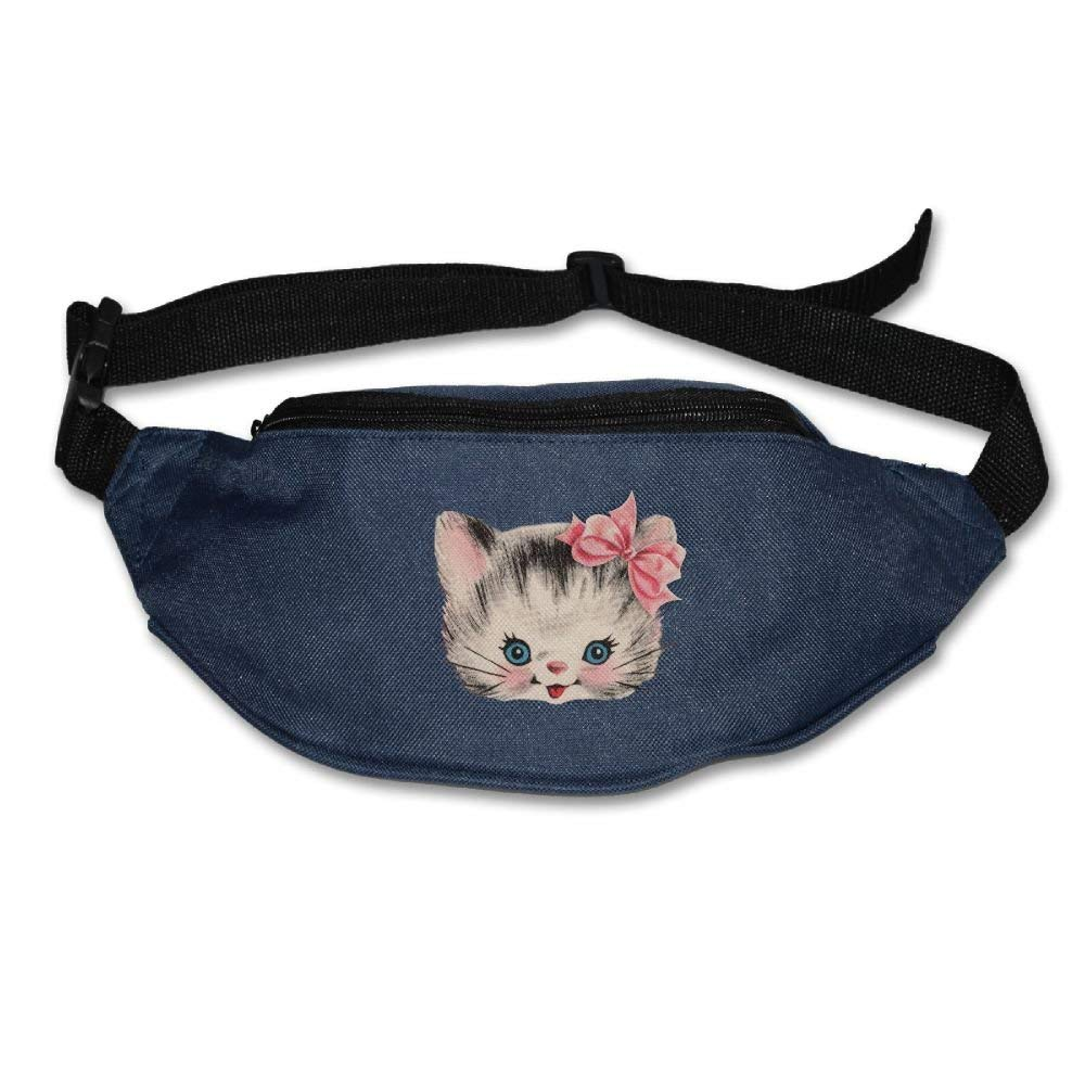 RuiKai Unisex Pockets Naughty Kitty Cat Fanny Pack Waist//Bum Bag Adjustable Belt