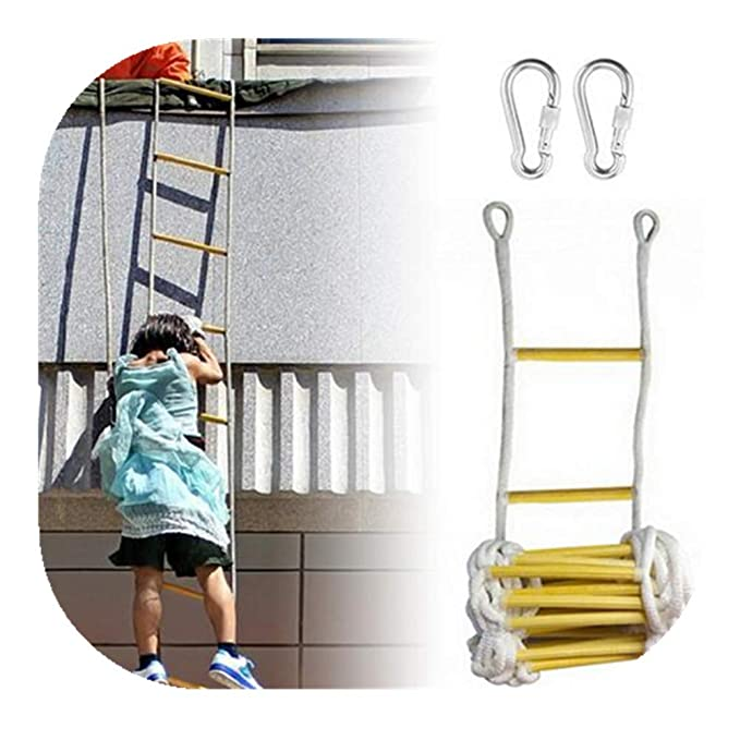 Emergency Fire Rope Escape Ladder 10/16 ft- Fast to Deploy ...