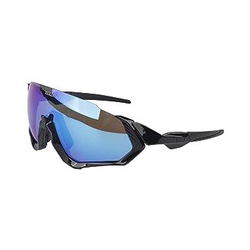 Gafas Ciclismo Hombre polarizada UV400 Las Flight Jacket Running Esqui Golf mtb Senderismo Pesca Triatlon con 3 Lentes Intercambiable, Resistentes y ...
