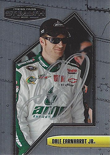 AUTOGRAPHED Dale Earnhardt Jr. 2011 Press Pass Stealth Racing (#88 AMP Energy Team) Hendrick Motorsports Sprint Cup Series Signed NASCAR Collectible Trading Card with COA