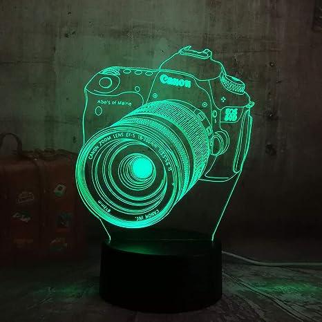wangZJ Lámpara de ilusión 3d / 7 colores cambiantes Toque la ...
