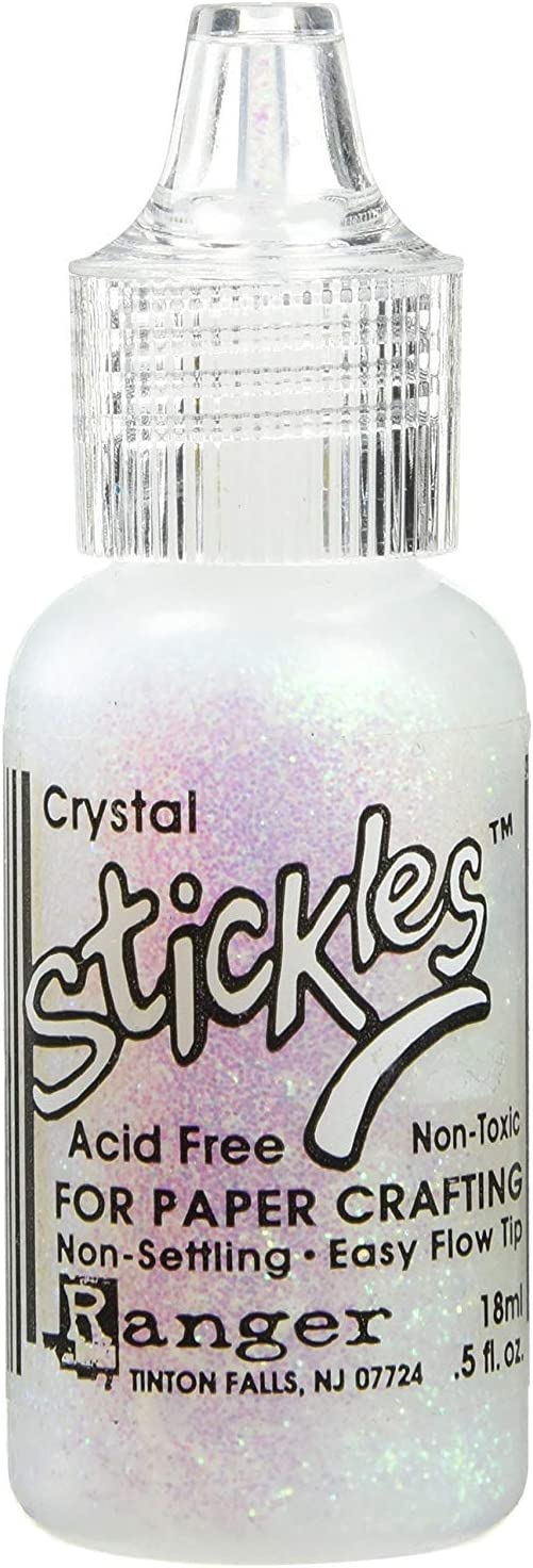 3-Pack Ranger Ink Bulk Buy Stickles Glitter Glue 0.5 Ounce Crystal SGG01-782