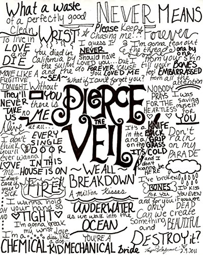 Pierce The Veil Fabric Cloth Rolled Wall Poster Print
