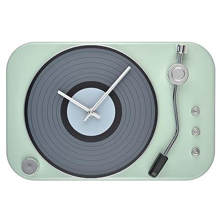 La Chaise Longue Reloj de Pared con diseño de Tocadiscos Vintage ...