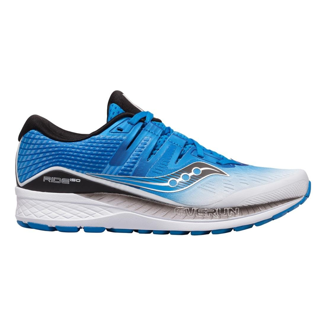 Saucony Men's Ride Iso Running Shoes B078PNJGYJ 10.5 EE US|White/Black/Blue