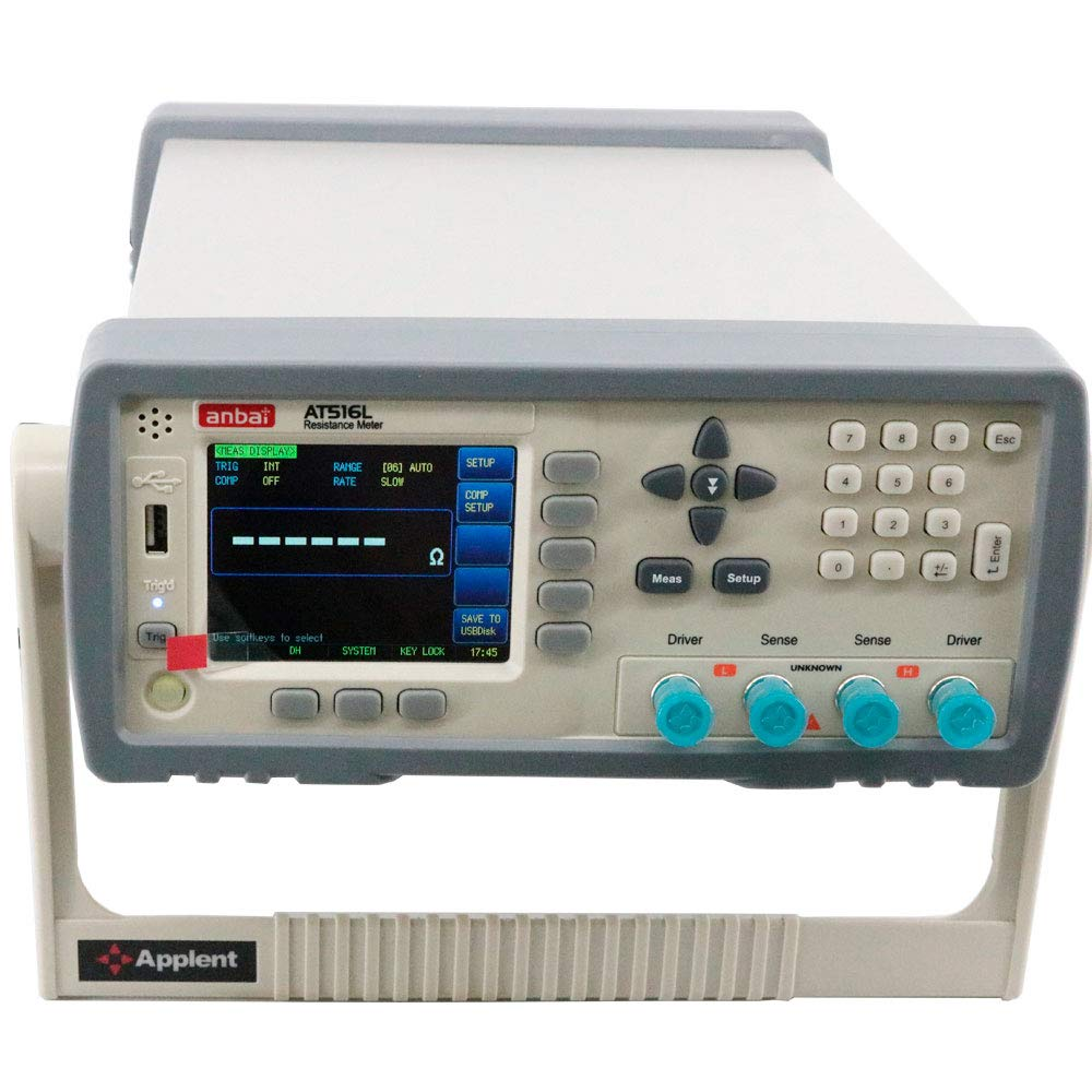 Graigar AT516L DC Resistance Meter Micro Ohm Meter with Digital Resistors