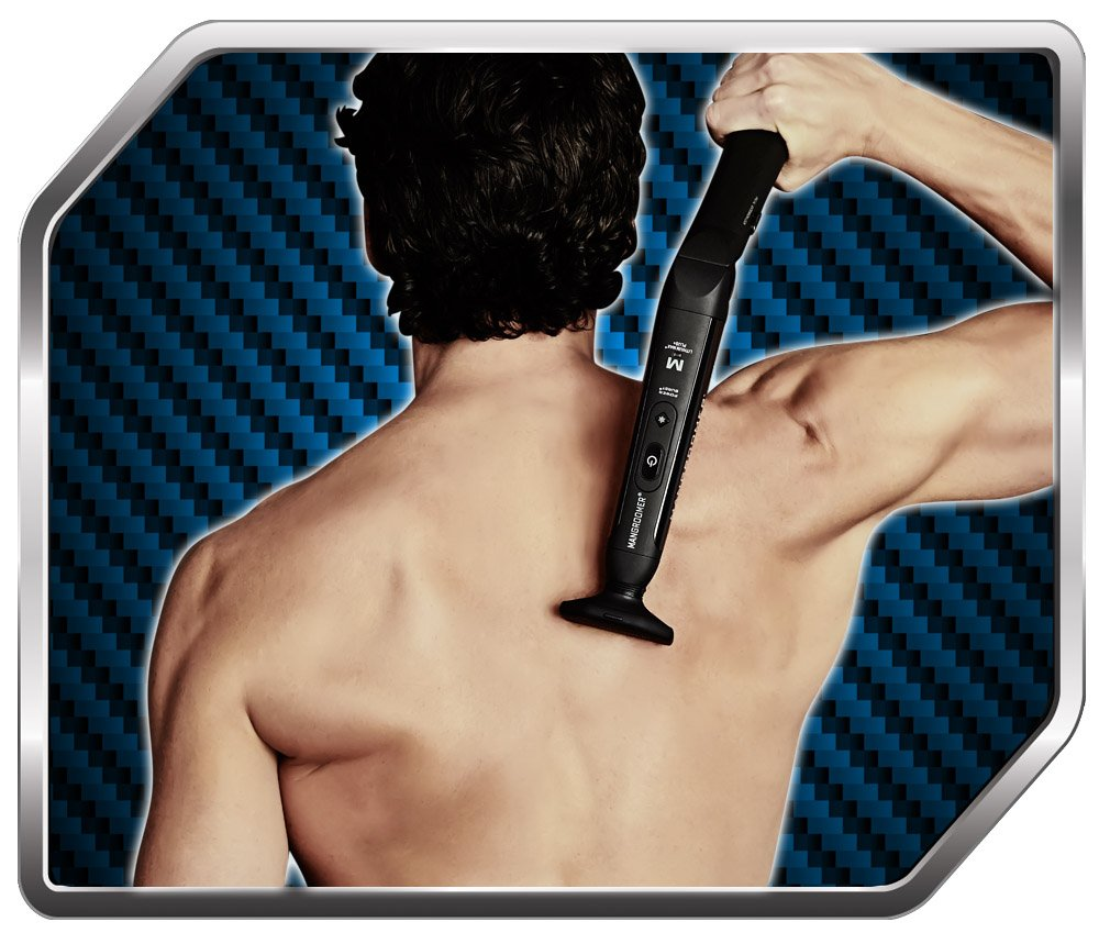 MANGROOMER - LITHIUM MAX PLUS+ Back Hair Shaver (New 5th Generation) Complete Attachment Head With Shock Absorber Neck And New 50% Wider Blade Design by MANGROOMER (Image #6)