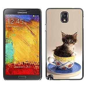 diy phone caseYOYO Slim PC / Aluminium Case Cover Armor Shell Portection //Cute Cat Kitten In A Cup //Samsung Note 3diy phone case