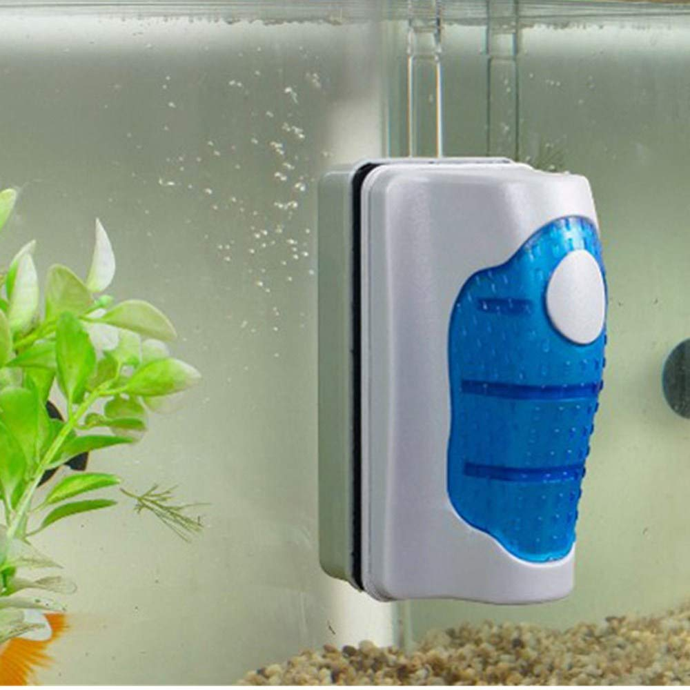Kimanli Fish Tank Glass Algae Scraper Cleaner Floating Curve with Non Slip Grip handle Aquarium Magnetic Cleaner Brush