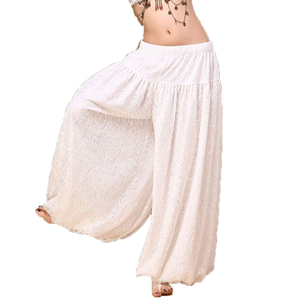 LXYFMS Belly Dance Lantern Pants Lace Exercise Pants Tribal Wind Performance Dance Clothes (Size   M)