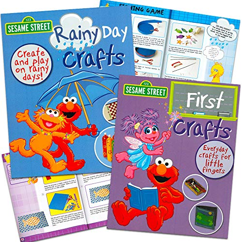 (Sesame Street Arts and Crafts Book Bundle with Rainy Day Activities for Kids Toddlers (Sesame Street Crafts))