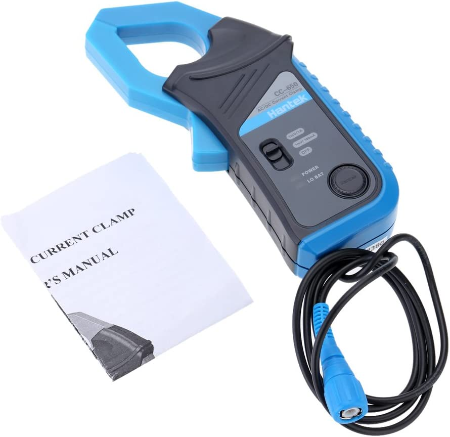 Festnight Hantek CC-650 AC//DC Current Clamp Meter 400Hz Bandwidth 20mA to 650A DC with BNC Connector