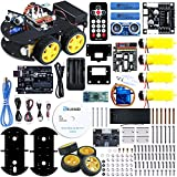 ELEGOO UNO Project Smart Robot Car Kit V 3.0 with UNO R3, Line Tracking Module, Ultrasonic Sensor etc. Intelligent and Educational Toy Car Robotic Kit for Kids Teens
