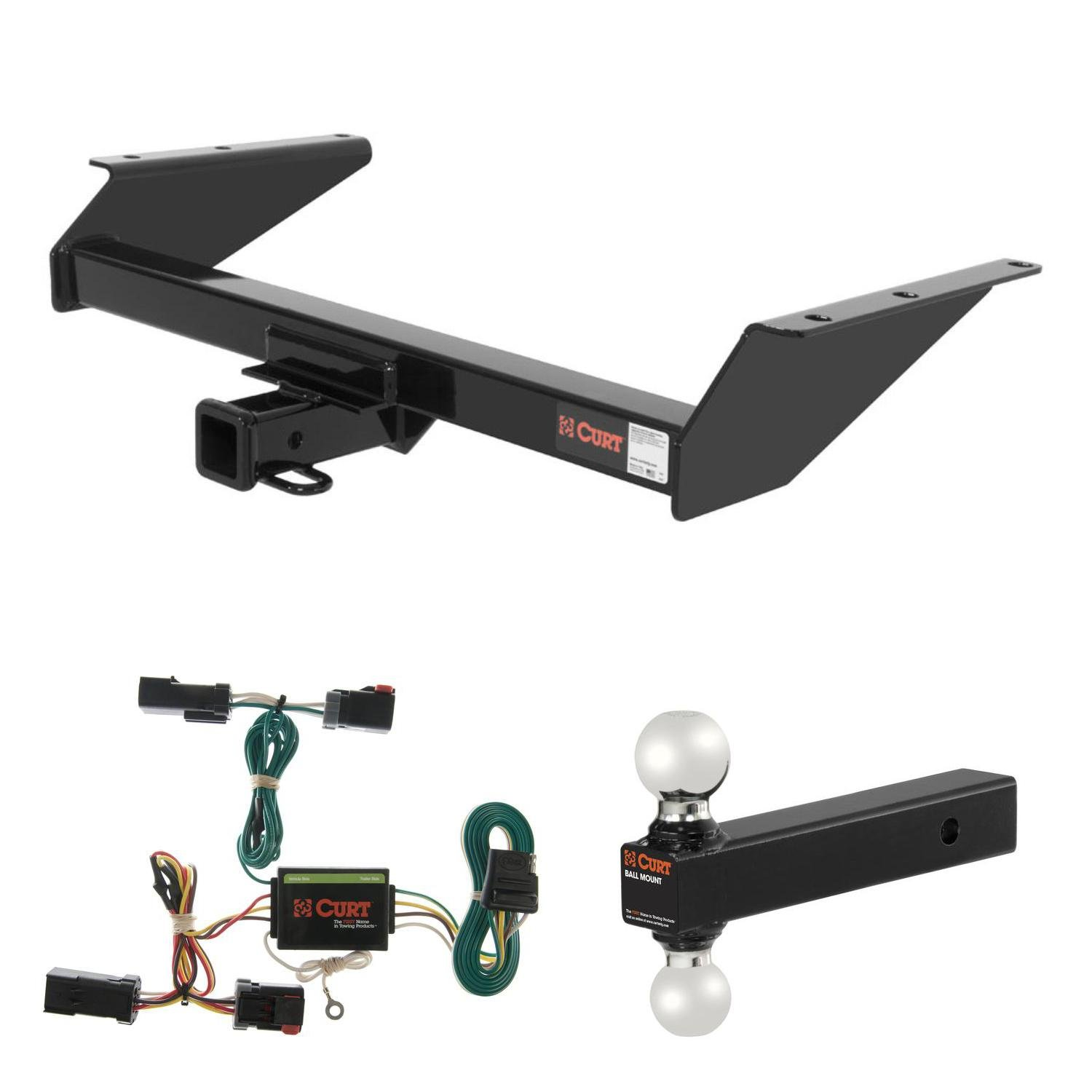 Curt Trailer Hitch、配線& multi-ballボールマウントfor 2002 – 2007 Jeep Liberty B07239CCMQ