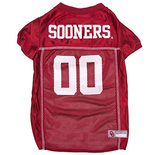 Pets First Collegiate Oklahoma Sooners Dog Mesh Jersey, Medium
