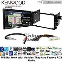 Volunteer Audio Kenwood DNX574S Double Din Radio Install Kit with GPS Navigation Apple CarPlay Android Auto Fits 2000-2005 Buick LeSabre, 2000-2005 Pontiac Bonneville (Without Bose)