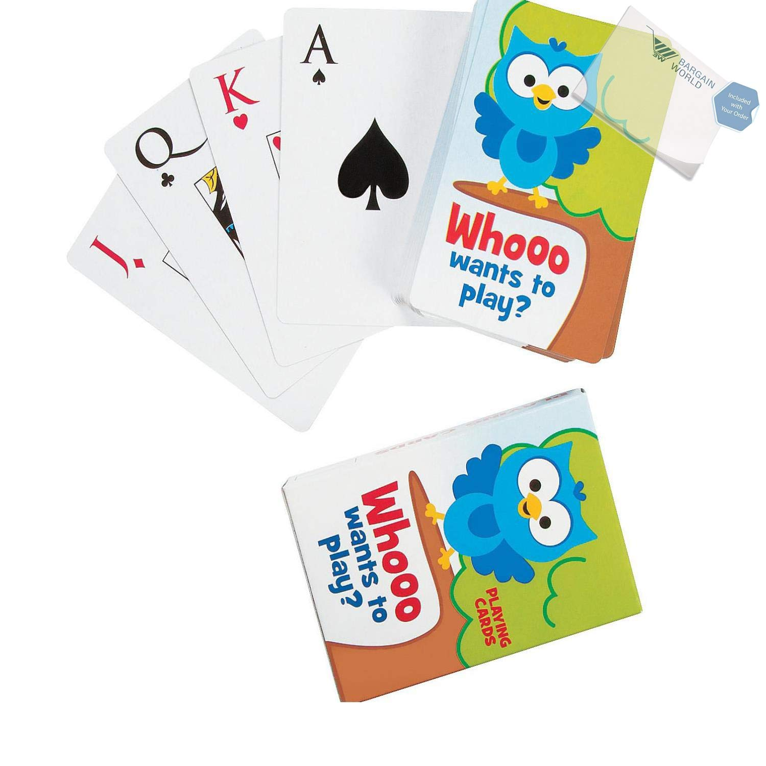Bargain World Paper Owl Playing Cards (With Sticky Notes) by Bargain World (Image #1)