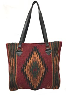 bb229fb3c0f9 Maya Ladies Tote Purse Handwoven Southwestern Wool Handbag Zapotec Design