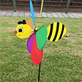 Misciu New Sell 3D Large Animal Bee Windmill Wind Spinner Whirligig Yard Garden Decor (Bee)