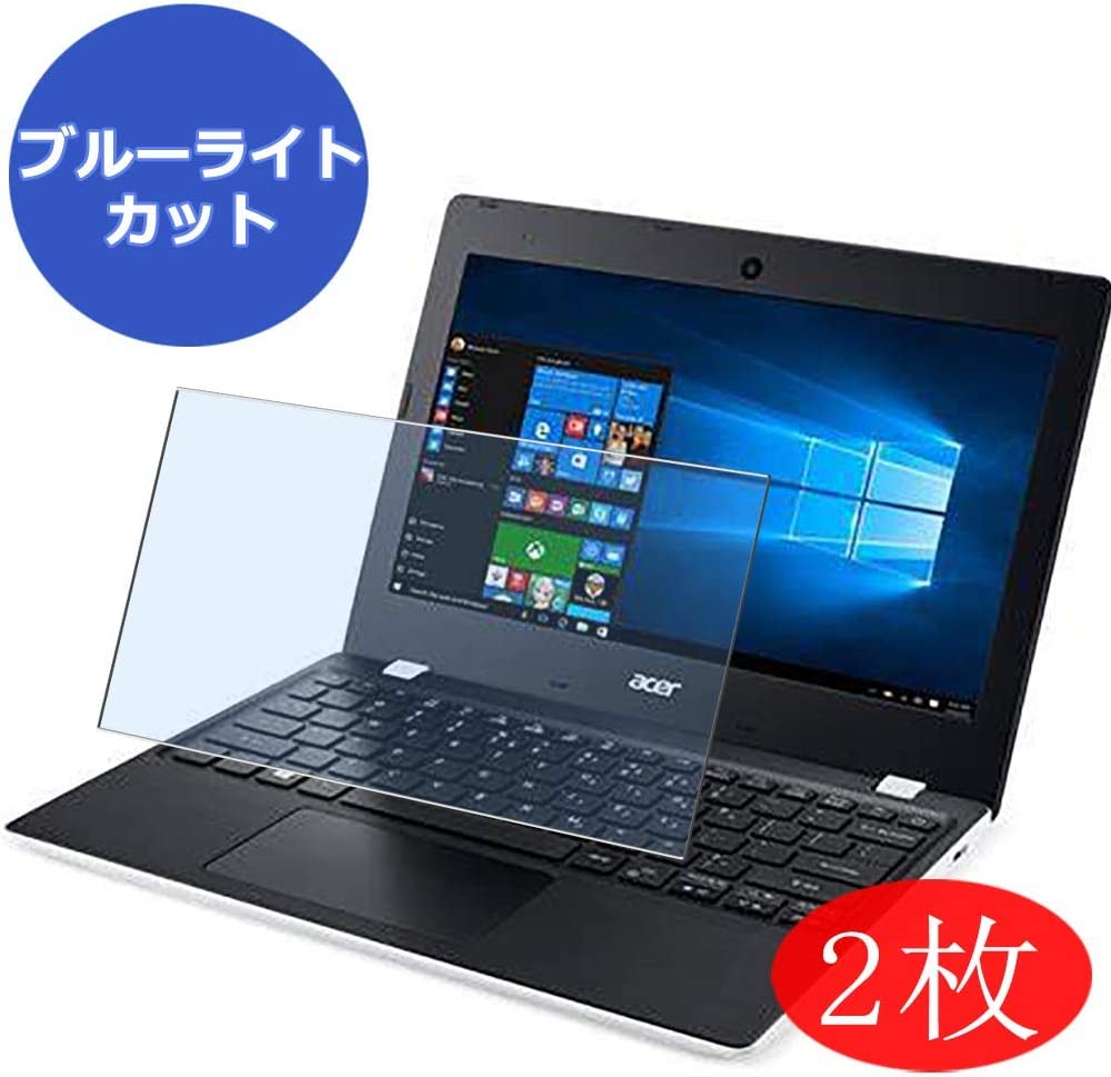 """【2 Pack】 Synvy Anti Blue Light Screen Protector for Acer Aspire One 1-131 / 131M Cloudbook 11.6"""" Screen Film Protective Protectors [Not Tempered Glass]"""
