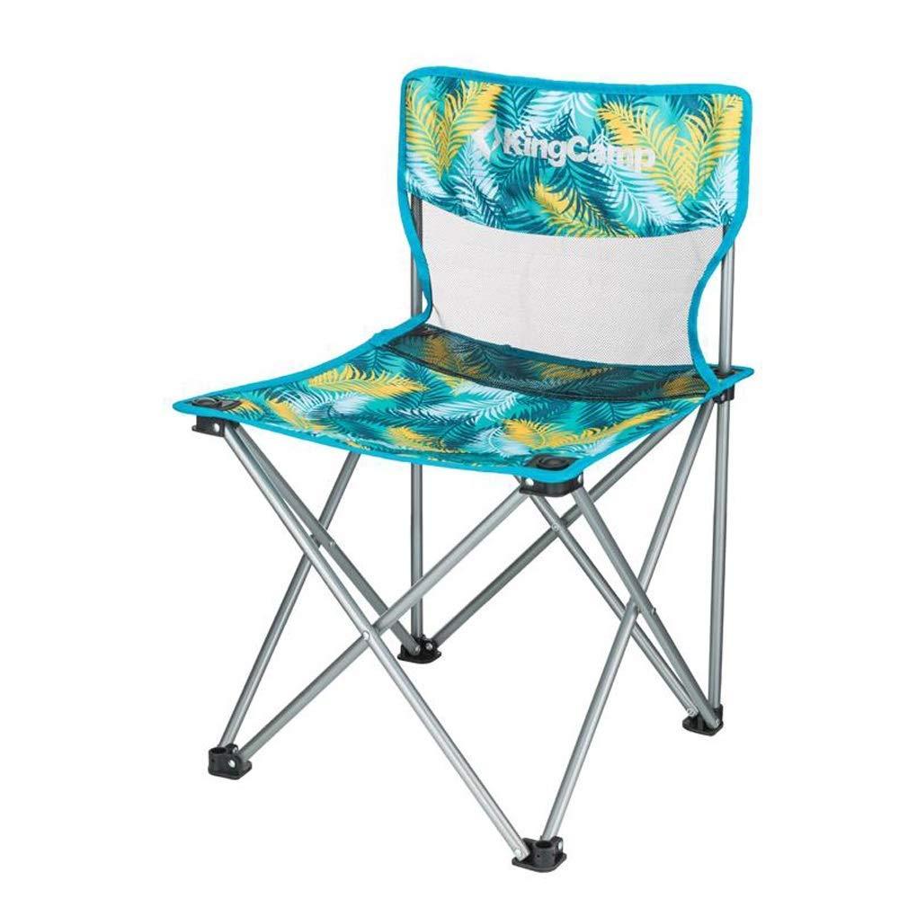 Palm Couleur  1949shop Chaise de Camping Pliante, Chaise de Camping Pliante en Acier rembourrée pour Usage extérieur pour Les directeurs de Festivals, pêche (capacité Maxi  120 kg) (Couleur  Couleur Palm)