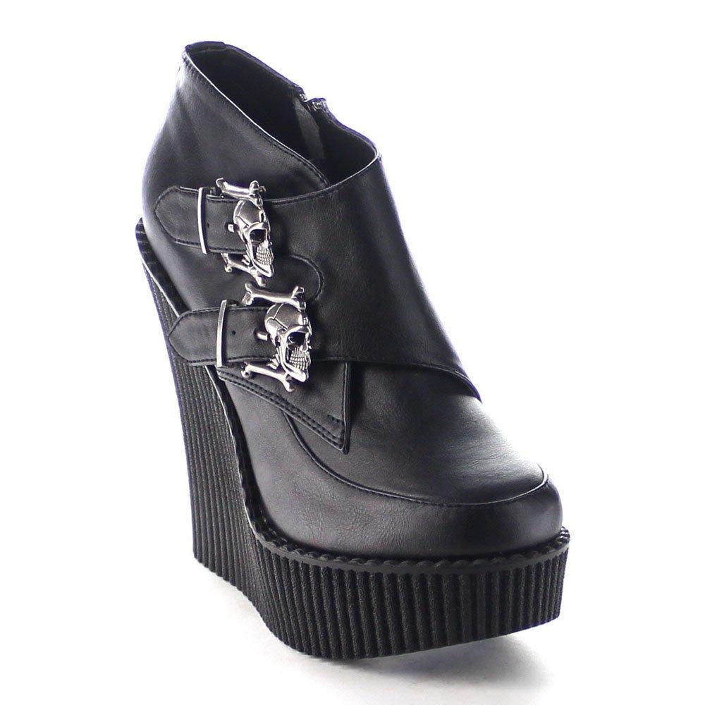 Demonia Women's Creeper 306 B017U9YCKM Vegan Leather Platform Wedges B017U9YCKM 306 7 B(M) US|Black Vegan 0f8575