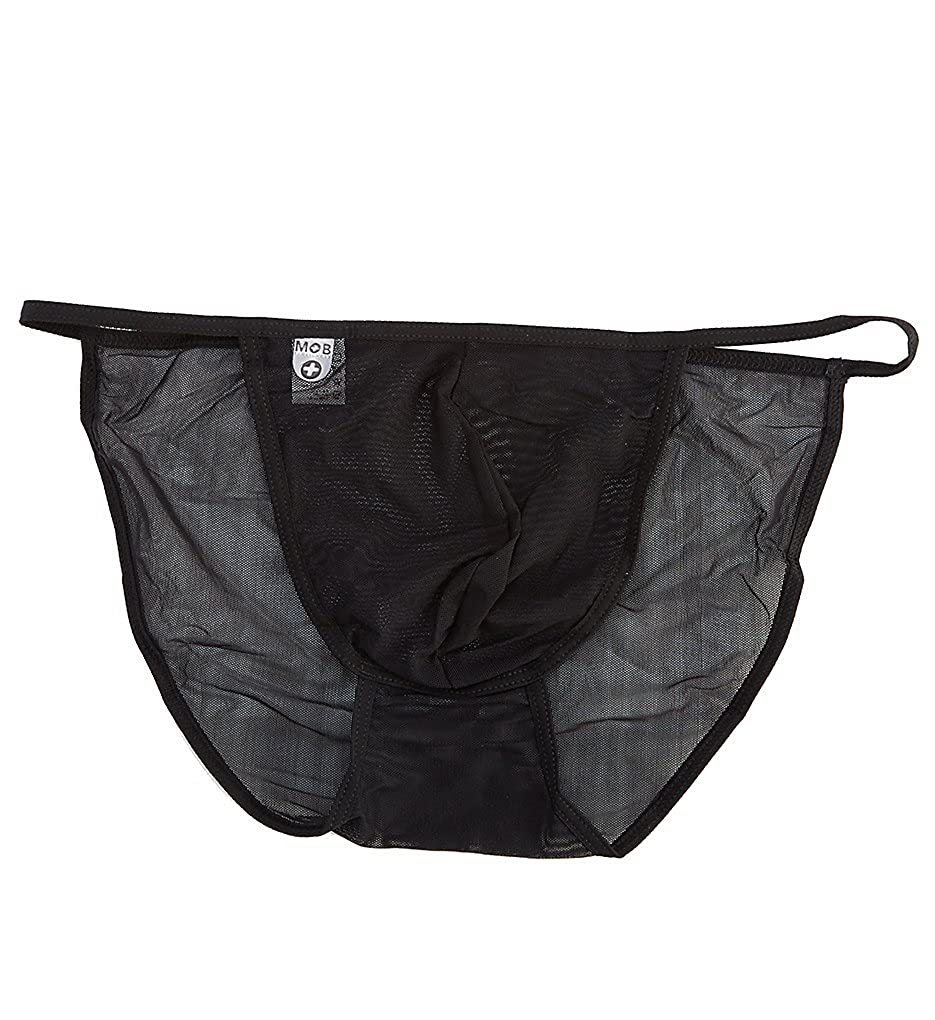 Male Basics String Tulle Bikini Black