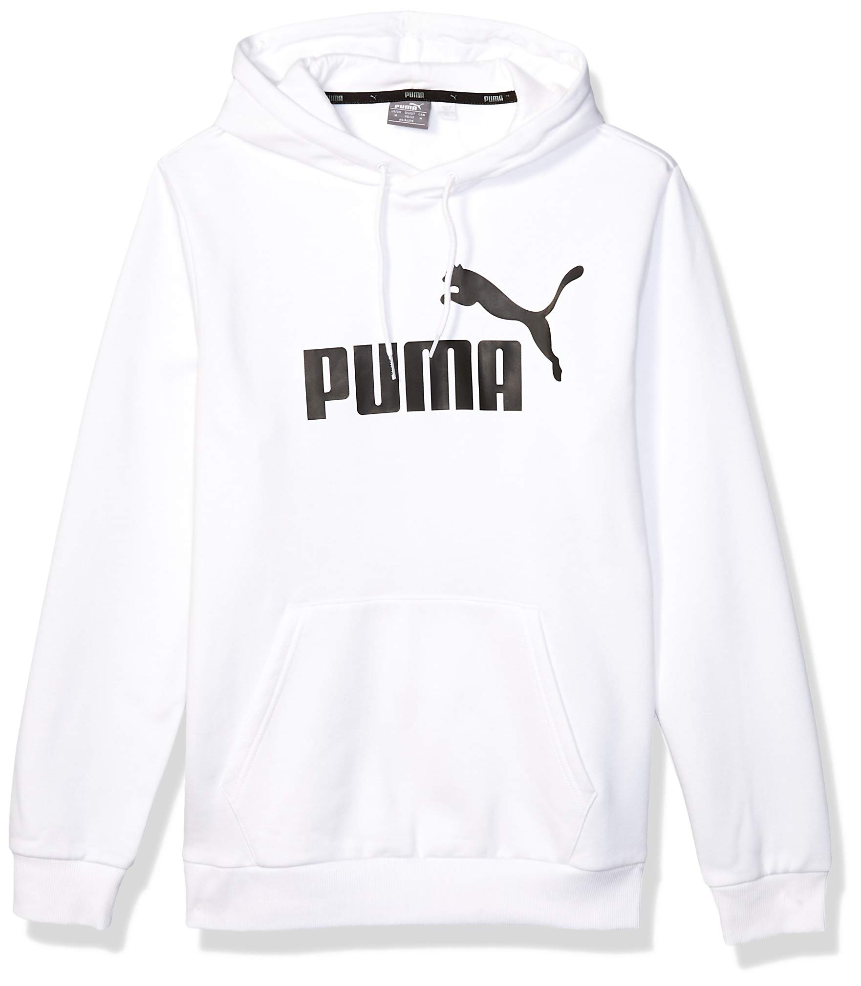 PUMA Men's Essential Hoodie Fleece Big Logo Sweatshirt