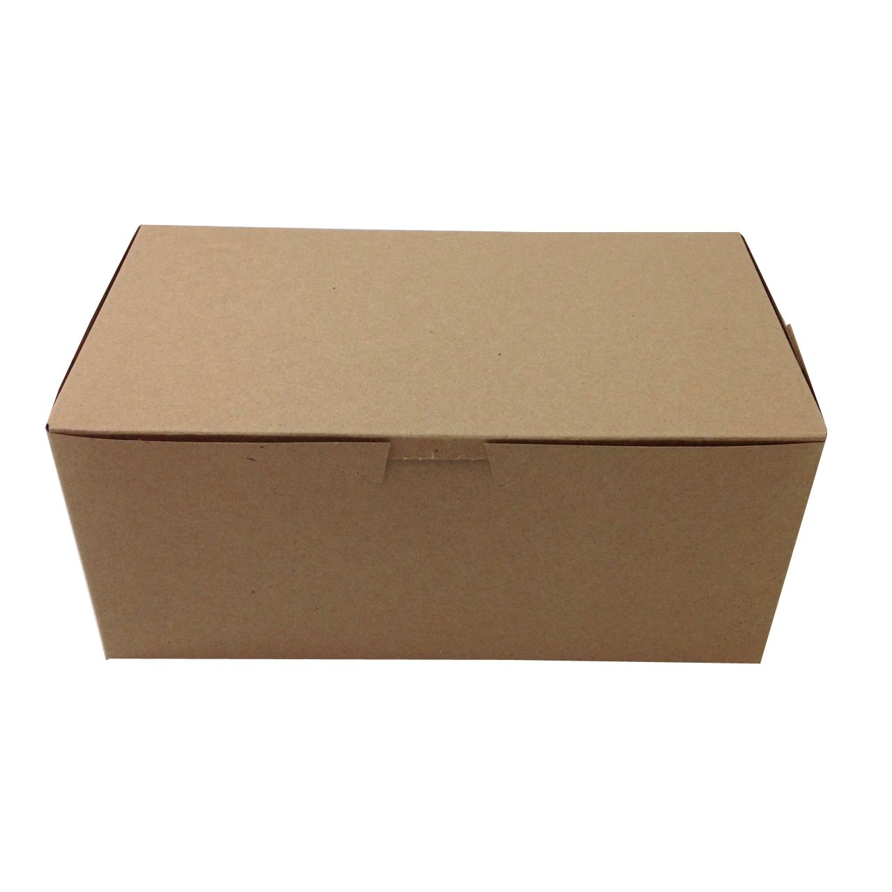 (Pack of 10) Black Cat Avenue 9'' x 5'' x 4'' Kraft Non-Window Disposable Food Boxes Lock Corner Donut Bakery Boxes