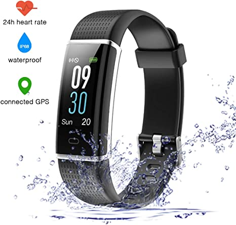 TOP-MAX Fitness Tracker Smart Bracelet Trackers Activity Heart Rate Monitor Smartwatches Pedometer w//Step Calorie Counter Reminder