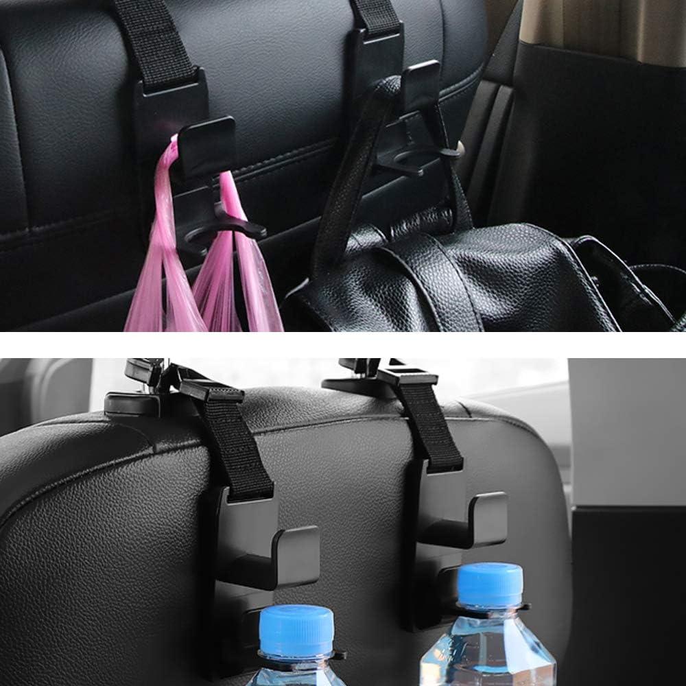 Instalaci/ón f/ácil en un segundo JEZOMONY Gancho para el reposacabezas del asiento del autom/óvil Bolsas de compras Bolsas etc. 8 PAQUETES Ganchos multiusos Percha para botellas de agua