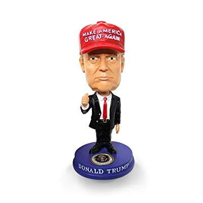 President Trump Bobblehead MAGA Hat 45 2020 Re-Election Classic Red Tie and Thumbs Up for Car, Desk, Office (Small): Toys & Games