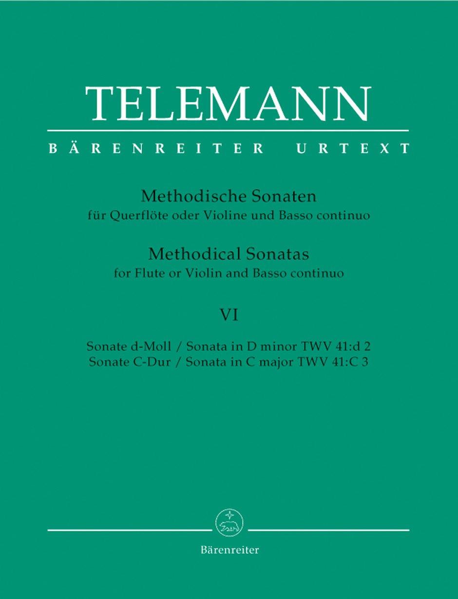 12 Methodische Sonaten für Flöte oder Violine und Basso continuo (Heft 6). Spielpartitur, Stimmensatz, Sammelband, Urtextausgabe