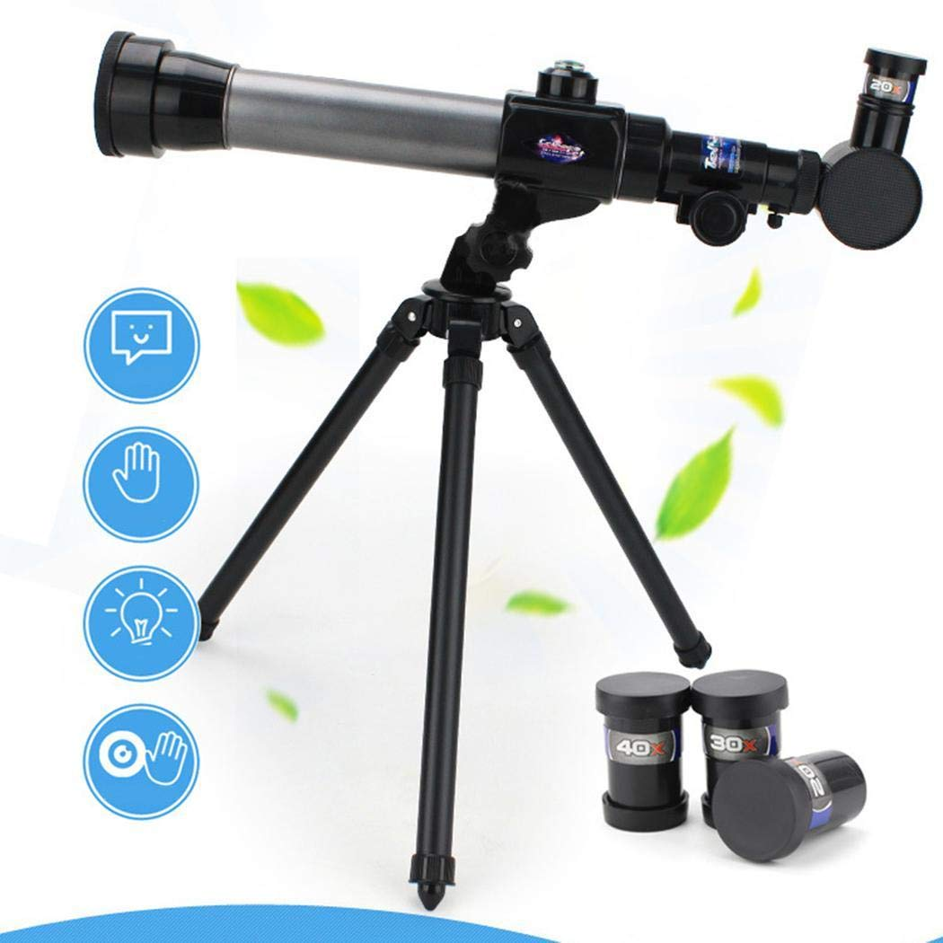 Acecor Children's Science Telescope, Students Astronomy Inspiration Exploring Science Astronomical Telescope Toy 20x/30x/40x Magnifying Glass
