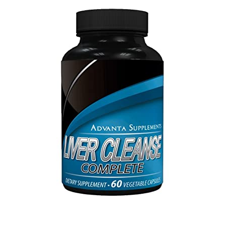 Liver Cleanse Complete Dietary Supplement, Advanced Liver Detox Support Formula