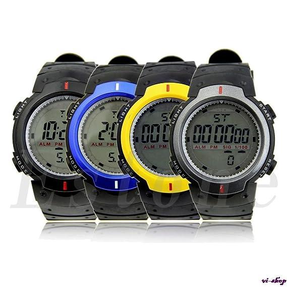 Skemi Smart mujer reloj Digital Monitor de frecuencia cardíaca Fitness Tracker Healthy Fit podómetro Relogio Masculino hombres deportes relojes: Amazon.es: ...